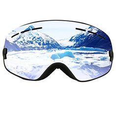 179f14091b77 COPOZZ Kids Ski & Snowboard Goggles with Detachable Dual Layer Anti-Fog  Lens Girls