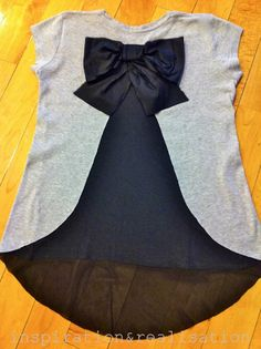 DIY Red Valentino bow on the back t-shirt