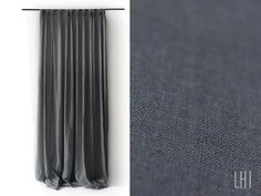 Linen curtain Black out lined Pinch pleat top Custom color by Lovely Home Idea