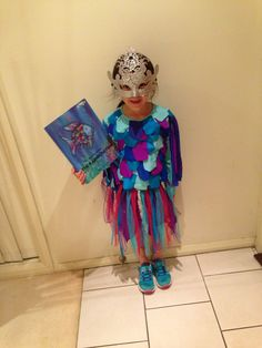 Rainbow fish costume.