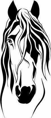 Your place to buy and sell all things handmade Stylized Horse Head Decal, approx 6 high. Available in black or white. Horse Stencil, Stencil Art, Stencils, Horse Silhouette, Silhouette Design, Horse Head, Horse Art, Horse Drawings, Art Drawings
