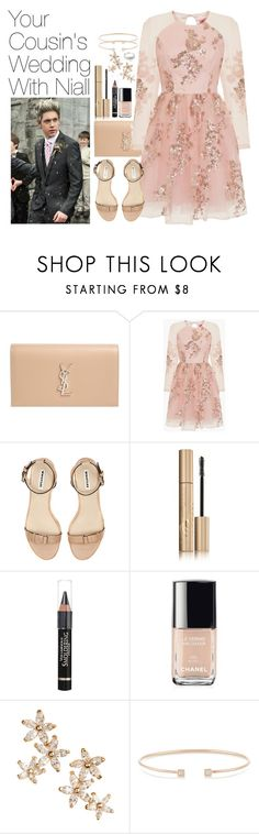 """""""Your Cousin's Wedding with Niall Horan"""" by onedirectionimagineoutfits99 ❤ liked on Polyvore featuring Yves Saint Laurent, Chi Chi, Stila, L'Oréal Paris, Chanel, Bonheur, Jemma Wynne and Simply Silver"""