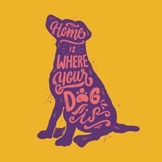 T-shirt design by stevenmink. The illustration shows handlettering in the shape of a dog silhouette. - Tap the pin for the most adorable pawtastic fur baby apparel! You'll love the dog clothes and cat clothes! Shirt Designs, Dog Poster, Dog Silhouette, Dog Illustration, Art Illustrations, Dog Quotes, Life Quotes, Dog Shirt, Typography Design