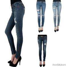 New Brand Eunina Ankle Skinny Slim Jeans Medium Wash Row Rise Pencil Denim Pants #Eunina #AnkleSkinnyJeans