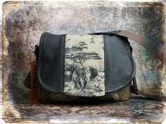 Leather Camera Bag - Elephant Tapestry Medium DSLR - Pre-Order. $140.00, via Etsy.