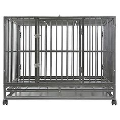 Dog-Crate-Kennel-Heavy-Duty-Pet-Cage-Playpen-w-Metal-Tray-Pan