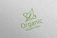 Natural and Organic Logo design 39 by denayunebgt on Organic Logo, Logo Design Template, Design Bundles, Slogan, Texts, Presentation, Photoshop, Concept, Templates