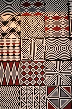 Fabric Patterns Imigongo style artwork at Nyungwe Forest Lodge, Rwanda - Decorative pattern at Nyungwe Forest Lodge Ethnic Patterns, Textile Patterns, Print Patterns, African Patterns, Tribal Print Pattern, Arte Tribal, Tribal Art, African Textiles, African Fabric