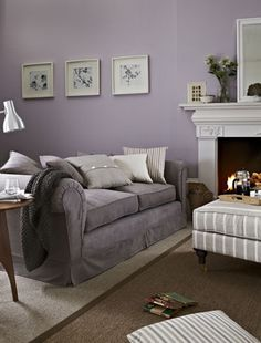Cool Lilac & Grey Living Room