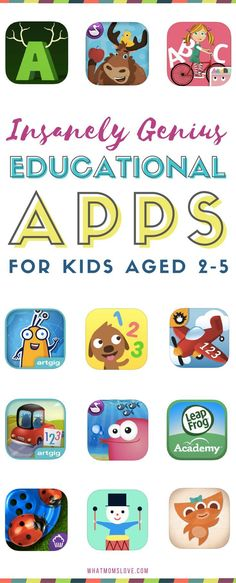 Best Educational Apps for toddlers and preschoolers | Fun learning apps for kids for iPad, iPhone and Android - perfect for children age 2-5 years old | Tools to learn sight words, letters, phonics, counting, math and more!