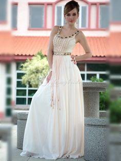 luxury floor length unique low-back formal dress