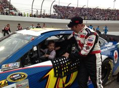 #NASCAR ... Check out @GBiffle with his daughter before tonights race at Richmond. @Motor Racing Network