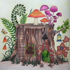 From Johanna Basfords Enchanted Forest Colored With Winsor