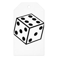 Six Sided Dice Gift Tags  $10.65  by Gridly  - cyo customize personalize unique diy idea