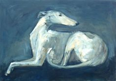 Spanish Greyhound, Acrylic on canvas, www.arte-canino.de