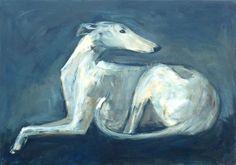 Spanish Greyhound, Acrylic on canvas, www.arte-canino.de