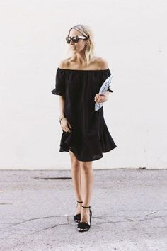 black off-the-shoulder