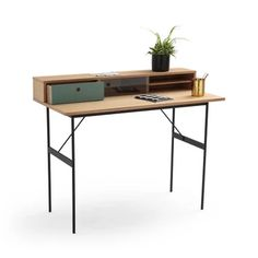 Nyjo Desk LA REDOUTE INTERIEURS Keep your home office organised with our Nyjo desk, which has a handy raised storage space to keep your stationery in one place.