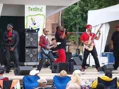 The band Hotsauce from Detroit performs at the River Raisin Jazz Festival Aug. 11, 2012, in Monroe MI. Photo by Paula Wethington.