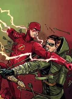 The Flash vs Arrow Art by David M. Buisán