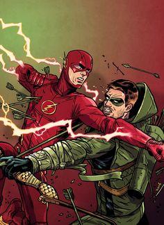 The Flash vs Arrow Art by David M. Buisán