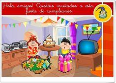 """Fiesta de cumpleaños"" (Juegos sobre los sentidos del cuerpo humano) Family Guy, Fictional Characters, Internet, Science Area, Teaching Resources, Human Body, Learning, Games, Fantasy Characters"