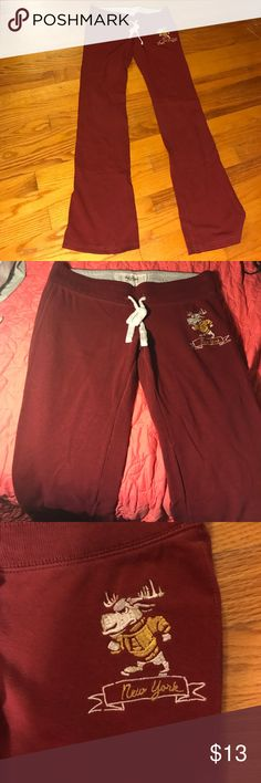 Maroon Abercrombie Lounge Pants Maroon Abercrombie soft lounge pants Abercombie Kids Pants Track Pants & Joggers