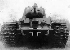 The Germans were never loathe to use captured enemy tanks, such as this KV. Called the Beute Panzer (Trophy tank).