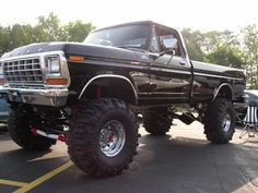 79 ford truck... Never thought I'd say this but... lil to lifted O.o