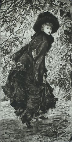 October (Octobre) - JAMES TISSOT - etching and drypoint 1878