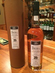 "Brora 25 Year , Single Malt Scotch Whisky, natural cask strength - for sale www.LiquorList.com  ""The Marketplace for Adults with Taste!""  @LiquorListcom  #LiquorList"