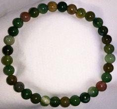 Natürliche Indischer Achat Heilstein Perlen Armband