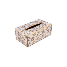 NOVICA Reverse Painted Glass Floral Tissue Box Cover from Peru ($35) ❤ liked on Polyvore featuring home, bed & bath, bath, bath accessories, bathroom and vanity, beige, decor accessories, home decor, cream bathroom accessories and glass bath accessories