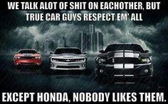 "US Muscle Car Crew ""No Hondas Herfe !!!"""