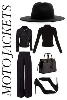 """""""My Classic Creation of #motojackets"""" by jerzz ❤ liked on Polyvore featuring Haider Ackermann, Études, Miss Selfridge, Gianvito Rossi, Yves Saint Laurent and plus size clothing"""