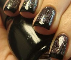 Glitter black tip