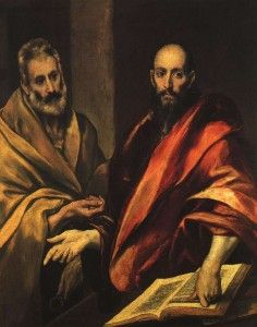 El Greco/ Dominikos Theotocopulos (1541-1614) | St Peter and St Paul (1587-1592)