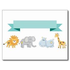 Safari Animals Banner Post Card