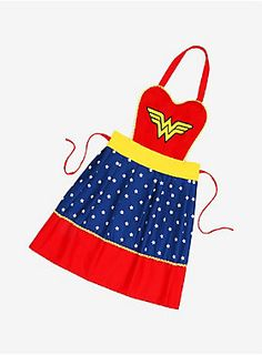 """<div>Holy Hera! Channel your inner demi-goddess and go to war in the kitchen! This apron will protect you from spills the way Diana's armor protects her on the battlefield!</div><ul><li style=""""list-style-position: inside !important; list-style-type: disc !important"""">100% cotton</li><li style=""""list-style-position: inside !important; list-style-type: disc !important"""">Imported</li></ul>"""