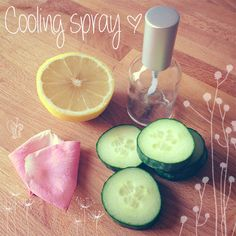 This cooling body and face spray recipe contains all-natural cooling ingredients and is super easy to make at home. #diy #homemade