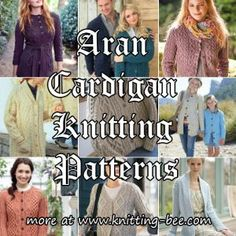 Aran Cardigan Knitting Patterns