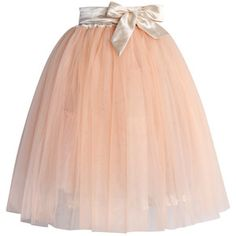Chicwish Amore Tulle Midi Skirt in Ice Orange