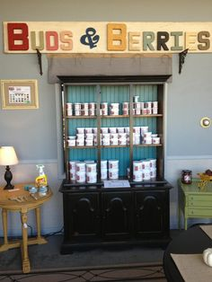 Blackberry House Paint Display At Buds U0026 Berries Classy Chic In Fowler,  Indiana