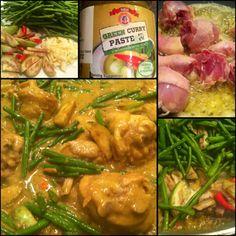 Thaise groene curry pasta geprobeerd en smaakt is iets flauw en een beetje van @KookMetMij is alles goed gekomen