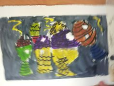 Ogbourne Art Club decorative egg paintings