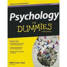 For Dummies Psychology For Dummies Edition 2 Paperback Walmart Com Dummies Book Psychology Books Psychology