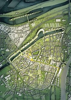 Masterplan for Duisburg- Norman Foster plan.