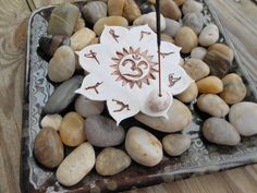 Yoga Flower Incense Holder Tea Light Holder Ohm by BeBohemianPeach Diy Clay, Clay Crafts, Diy Incense Holder, Clay Fish, Biscuit, Yoga Decor, Creative Arts And Crafts, Clay Design, Handmade Beads