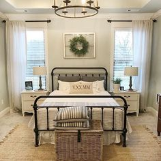 modern farmhouse master bedroom reveal