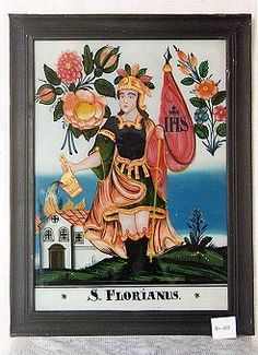 .. Czech Republic, Saints, Folk, Antiques, Glass, Painting, Pictures, Art, Friends